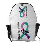 Courage Faith Hope 5 Thyroid Cancer Commuter Bags