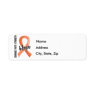 Courage Faith Hope 5 Uterine Cancer Label