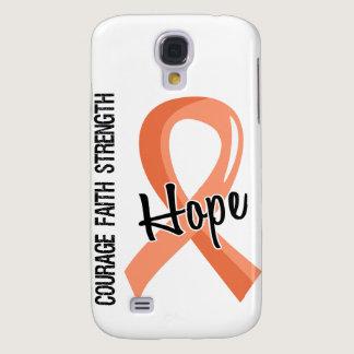 Courage Faith Hope 5 Uterine Cancer Samsung Galaxy S4 Case