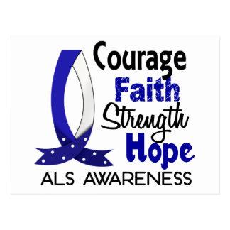 Courage Faith Strength Hope ALS Postcard