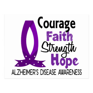 Courage Faith Strength Hope Alzheimer's Disease Postcard