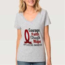 Courage Faith Strength Hope Amyloidosis T-Shirt