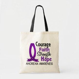 Courage Faith Strength Hope Anorexia Tote Bag