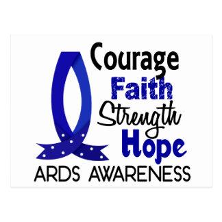 Courage Faith Strength Hope ARDS Postcard
