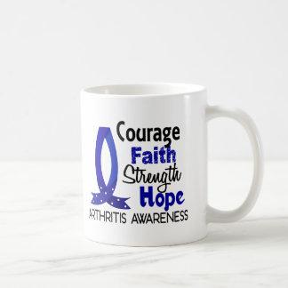 Courage Faith Strength Hope Arthritis Mug