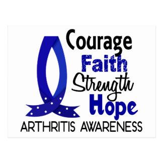 Courage Faith Strength Hope Arthritis Postcard