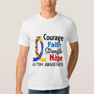 Courage Faith Strength Hope Autism Tshirts