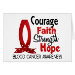 Courage Faith Strength Hope Blood Cancer Greeting Cards