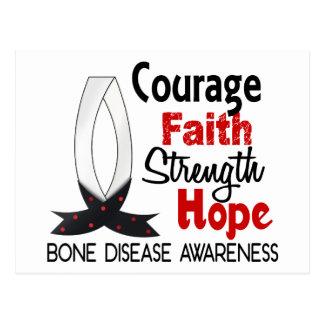 Courage Faith Strength Hope Bone Disease Postcard