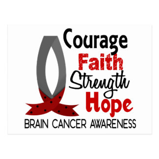 Courage Faith Strength Hope Brain Cancer Postcard