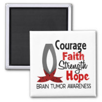 Courage Faith Strength Hope Brain Tumor Magnet