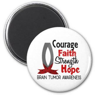 Courage Faith Strength Hope Brain Tumor Fridge Magnets