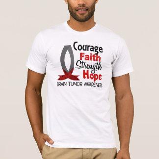 Courage Faith Strength Hope Brain Tumor T-Shirt
