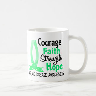 Courage Faith Strength Hope Celiac Disease Coffee Mug