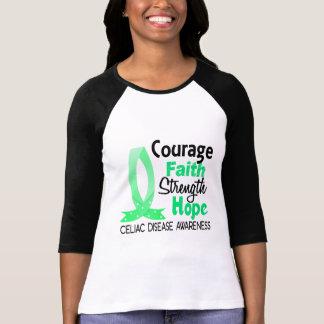 Courage Faith Strength Hope Celiac Disease Shirt
