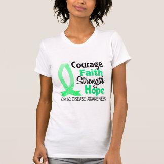 Courage Faith Strength Hope Celiac Disease T-shirts