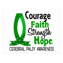 Courage Faith Strength Hope Cerebral Palsy Postcard