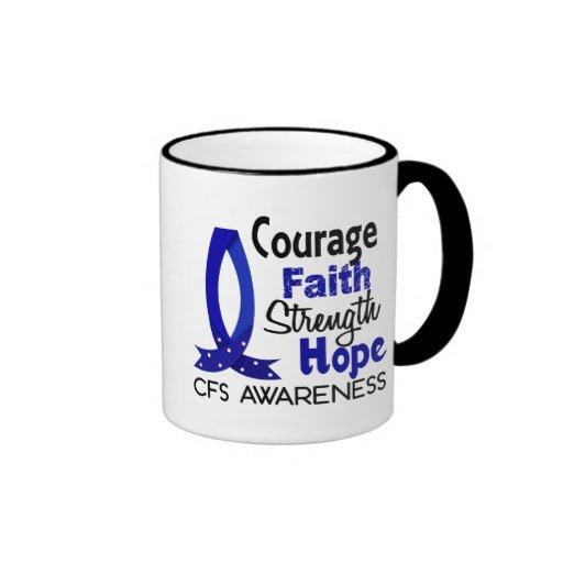 Courage Faith Strength Hope CFS Ringer Coffee Mug