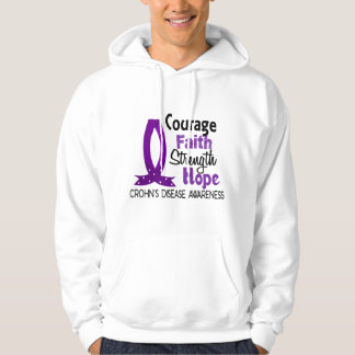 Courage Faith Strength Hope Crohn's Disease Hooded Pullover