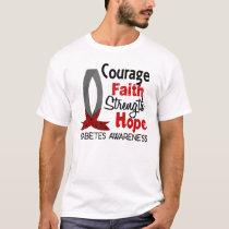 Courage Faith Strength Hope Diabetes T-Shirt