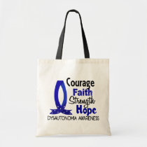 Courage Faith Strength Hope Dysautonomia Tote Bag
