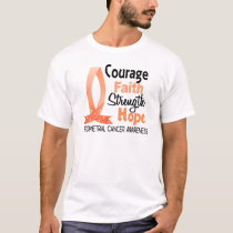 Courage Faith Strength Hope Endometrial Cancer T-Shirt