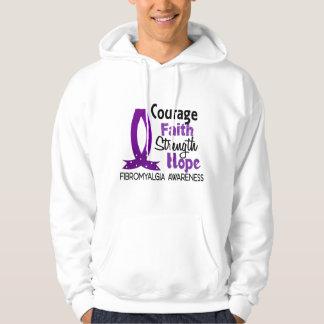 Courage Faith Strength Hope Fibromyalgia Hoodie