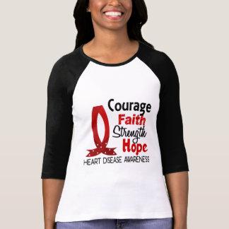 Courage Faith Strength Hope Heart Disease T-Shirt