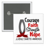 Courage Faith Strength Hope Juvenile Diabetes Buttons
