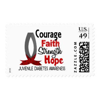 Courage Faith Strength Hope Juvenile Diabetes Postage Stamp