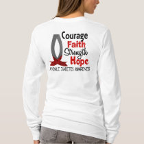 Courage Faith Strength Hope Juvenile Diabetes T-Shirt