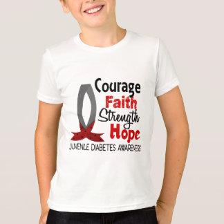 Courage Faith Strength Hope Juvenile Diabetes T-Shirt