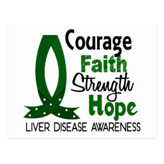 Courage Faith Strength Hope Liver Disease Postcard