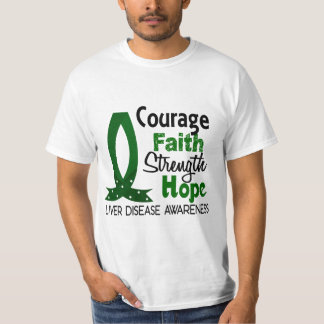 Courage Faith Strength Hope Liver Disease T-Shirt