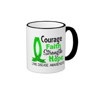 Courage Faith Strength Hope Lyme Disease Mugs