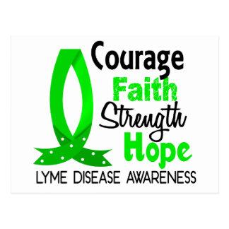 Courage Faith Strength Hope Lyme Disease Postcard