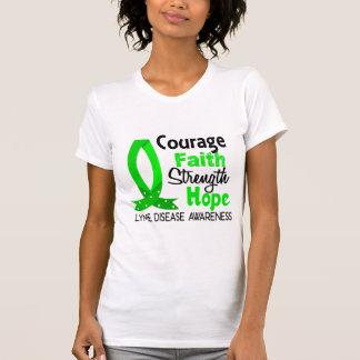 Courage Faith Strength Hope Lyme Disease T-Shirt