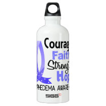 Courage Faith Strength Hope Lymphedema Water Bottle