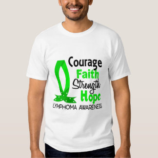 Courage Faith Strength Hope Lymphoma T-Shirt