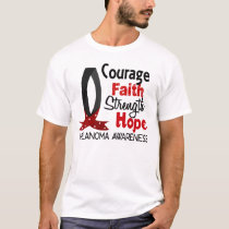 Courage Faith Strength Hope Melanoma T-Shirt