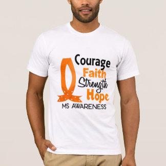 Courage Faith Strength Hope MS T-Shirt