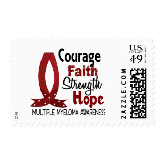 Courage Faith Strength Hope Multiple Myeloma Postage
