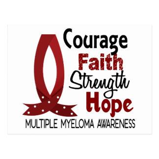 Courage Faith Strength Hope Multiple Myeloma Postcard