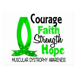 Courage Faith Strength Hope Muscular Dystrophy Postcard