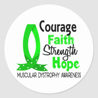 Courage Faith Strength Hope Muscular Dystrophy Stickers