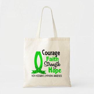 Courage Faith Strength Hope Non-Hodgkin's Lymphoma Budget Tote Bag