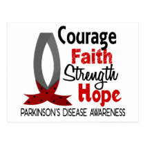 Courage Faith Strength Hope Parkinson's Disease Postcard