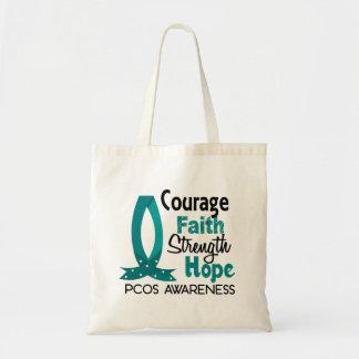 Courage Faith Strength Hope PCOS Canvas Bags
