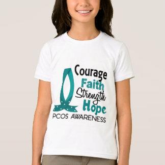 Courage Faith Strength Hope PCOS T-Shirt