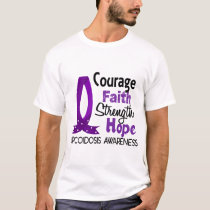 Courage Faith Strength Hope Sarcoidosis T-Shirt